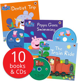 Peppa Pig Book and CD 套裝 10本故事書 + 10 CD