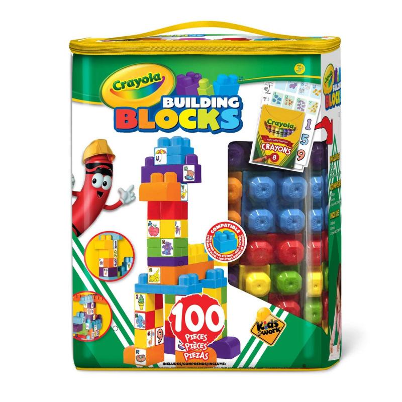 Crayola Building Blocks 積木畫畫套裝 [100粒裝]