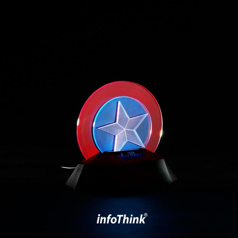 InfoThink美國隊長盾牌3D立光燈