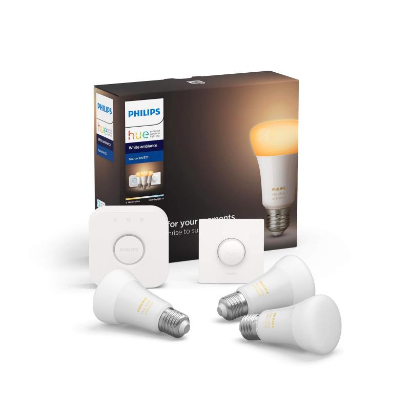 (免運費)Philips 飛利浦 HUE E27 2x9.5W White Ambiance Starter Kit 香港行貨(行貨二年保養)(沒有藍芽)