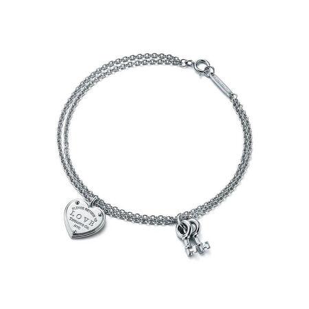 TIFFANY & CO. Love Heart Tag Key Bracelet (36812583)