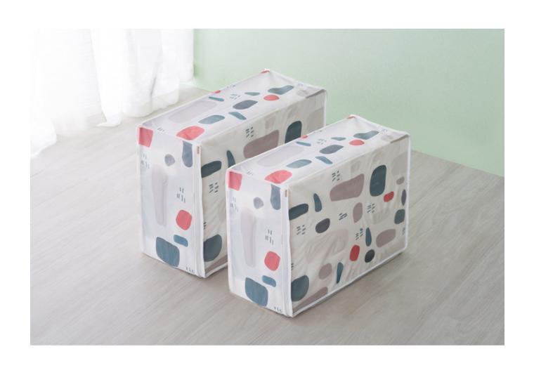 LOHAS - 印花棉被袋-(大號+小號)