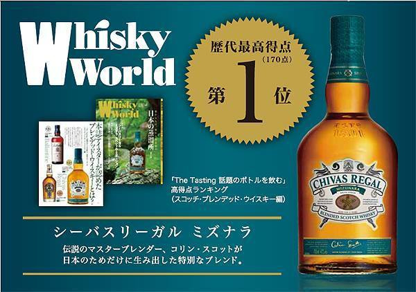 Chivas Regal Mizunara 水楢 日本特別版威士忌