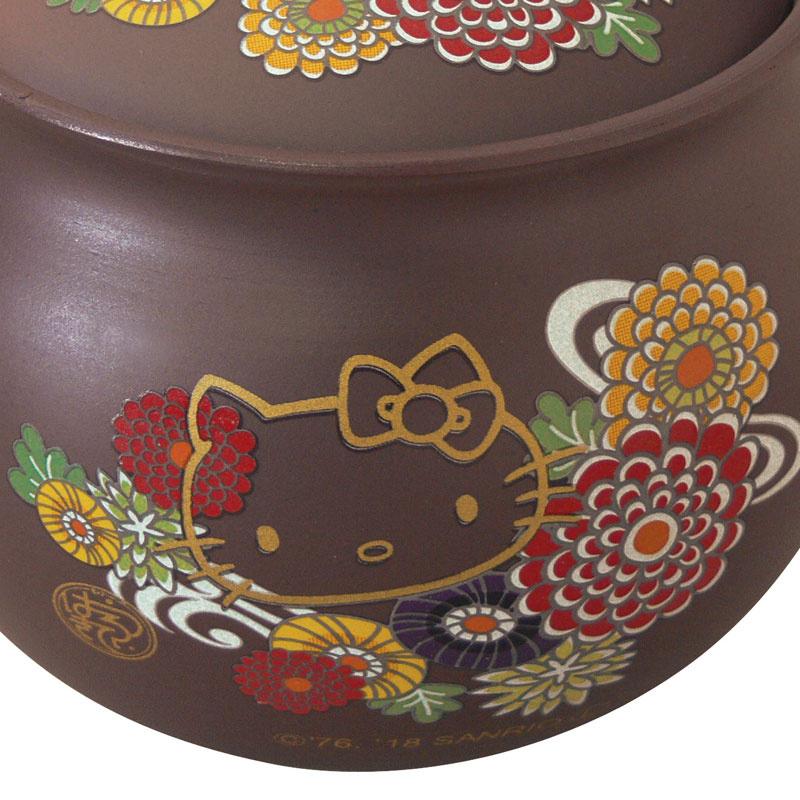 日本SANRIO Hello Kitty 萬古焼1.5号急須(菊)