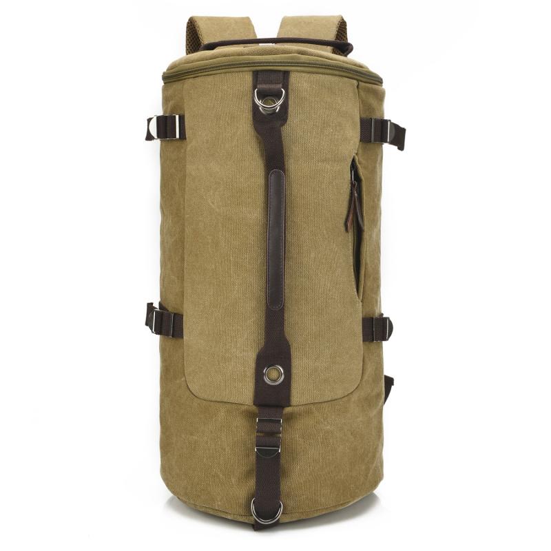 Brand New 40L 全新男裝大容量露營用帆布背包(三用背,斜背,手抽)49*26*26cm