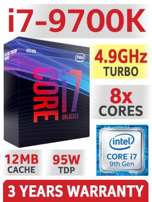 [免費送貨 /送正版WIN10] 樂天電腦 Intel i7-9700K /D4 2666 32GB /大容量 512G SSD /NVME M.2 240G SSD 高級家用文書辦公室组合