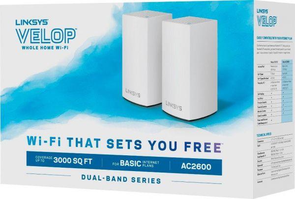 Linksys Velop WHW0102 AC1300 Dual-Band Mesh-WiFi 網絡系統(行貨三年保養)