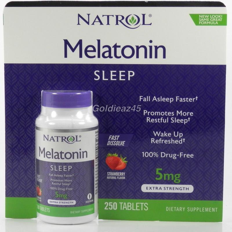 美國Natrol Melatonin褪黑激素 5亳克,幫助睡眠, 250粒裝