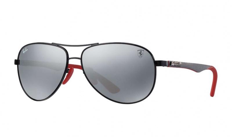 RB8313M SCUDERIA FERRARI COLLECTION 法拉利聯乘灰色灰鏡面鏡片太陽眼鏡| F0096G Grey