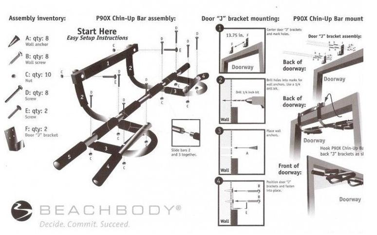 【Accstore】免鑽牆 門框引體上升單槓 |多功能 門上 單雙槓