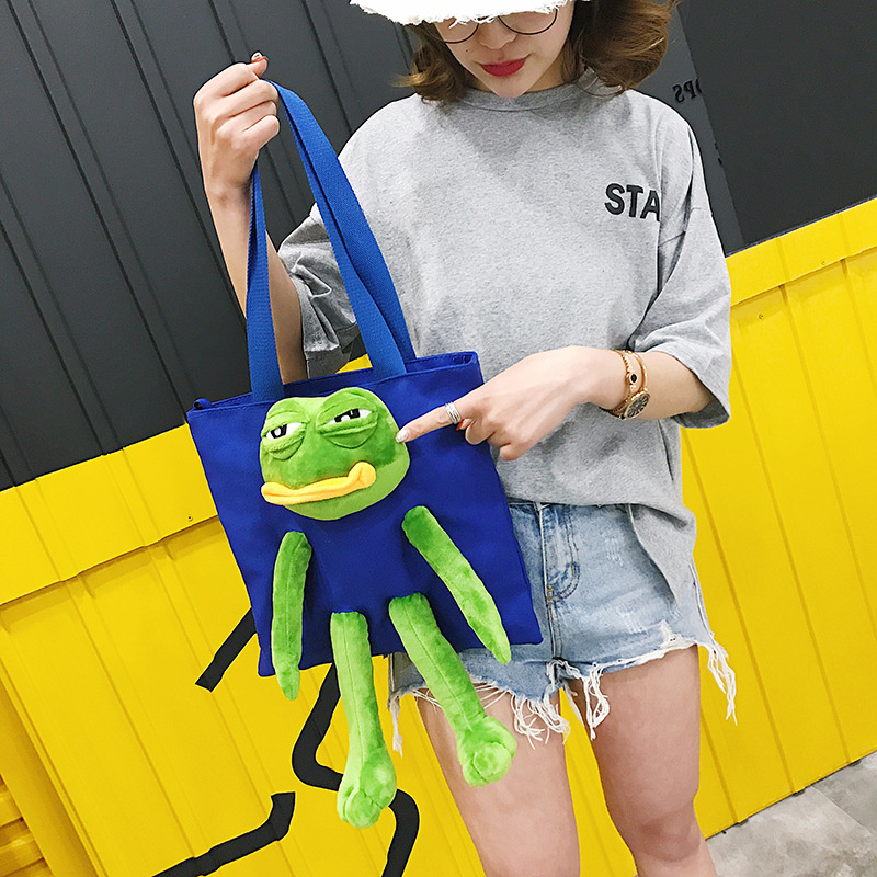 Pepe the Frog tote bag 公仔布袋 [3色]