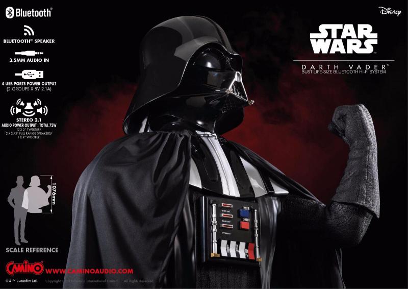 [預售產品] Star Wars 黑武士 半身像裝飾型藍牙 HiFi 系統揚聲器組