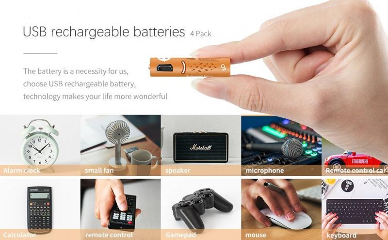4X Smartools Micro-USB 插頭3A AAA充電池套裝/ 2A AA Batteries