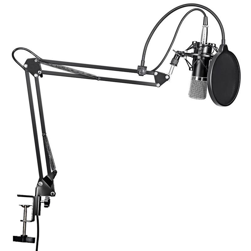 Microphone BM-800 咪高峰 連金屬支架連固定支撐手臂 Facebook Youtube Vlog Live 可固定枱上