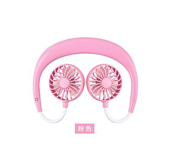 免提掛頸式Headphone型風扇 [(顏色隨機)]