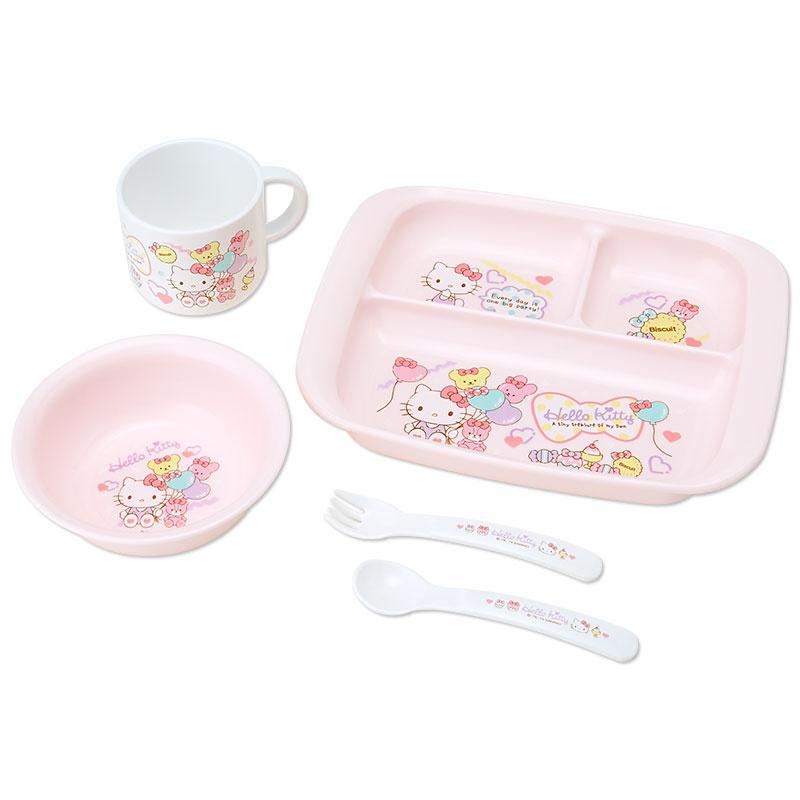 日本SANRIO Hello Kitty お食事セット套裝