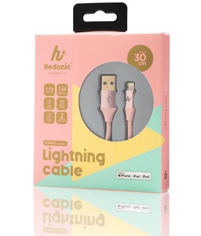 Hedonic USB 2.0A to Lightning 充電傳輸線