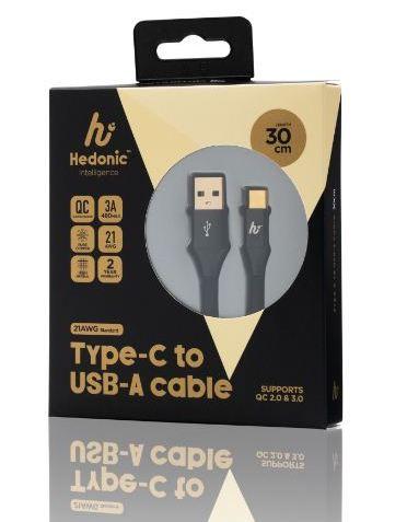 Hedonic USB 2.0A to TypeC 充電傳輸線 [2款] [3色]