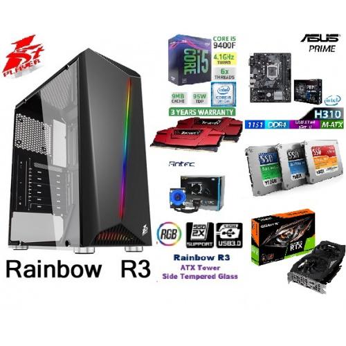 👉AccessPoint終極一劈!!強勁水冷電競組合(連正版WIN10!) x GIGABYTE GEFORCE RTX 2060 6G+I5 9400F+DDR4 2666 16G RAM!🔥🔥🔥[第9代 I5-9400F+GEFORCE RTX2060 6G+DDR4 2666 16G RAM+240G SSD+強化玻璃透側RGB燈條電競機箱!!!電競遊戲組合,戰地風雲 5