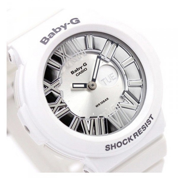 CASIO Baby-G BGA-160-7B1DR (正貨有一年保養) | 白色錶身銀色羅馬數字錶面