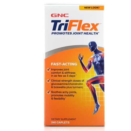 GNC TriFlex 5合1 3倍活速效關節配方 (TriFlex Fast Acting) 240粒 優惠裝