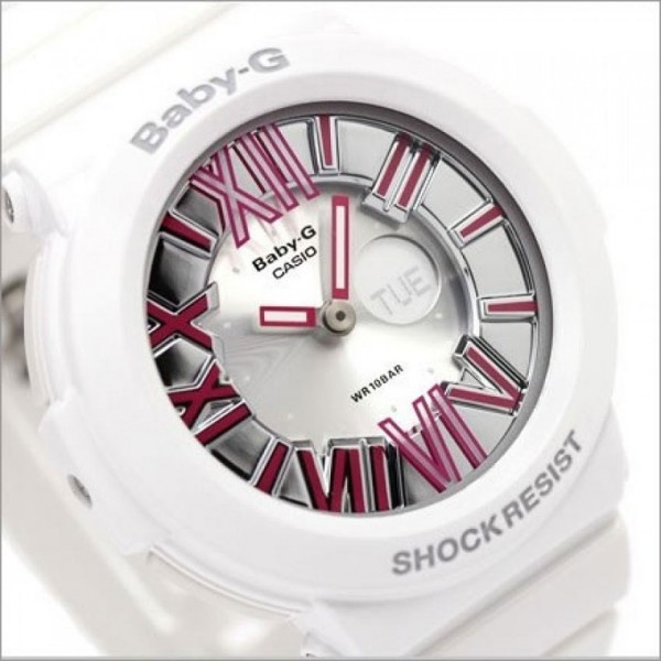 CASIO Baby-G BGA-160-7B2DR (正貨有一年保養) | 白色錶身粉色羅馬數字錶面