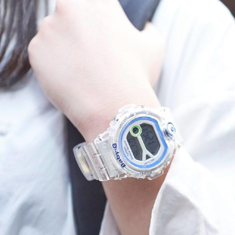 CASIO Baby-G BG-6903-7D (正貨有一年保養)   透明錶身藍白色錶面