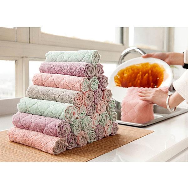 TSK 家用廚房清潔布洗碗巾 (10條裝)