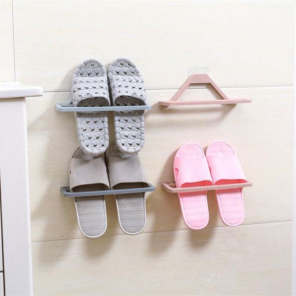 TSK 拖鞋壁掛式免打孔收納架 (3個裝) [3色]