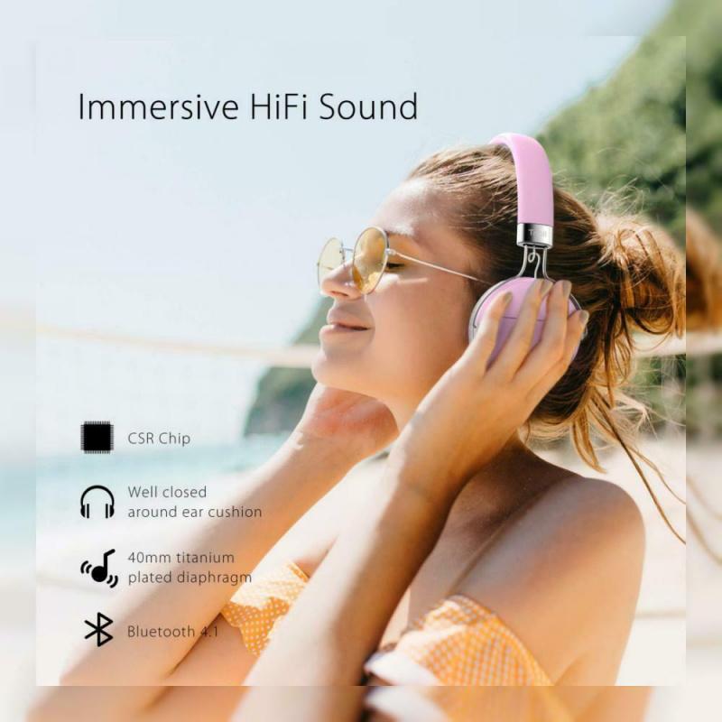 Tribit XFree Move 真無線頭戴式耳機 [粉紅色]