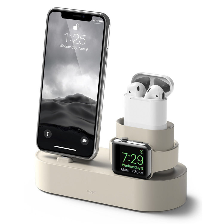 Elago 3合1矽膠充電支架 - iPhone/Apple Watch/AirPods(4色)