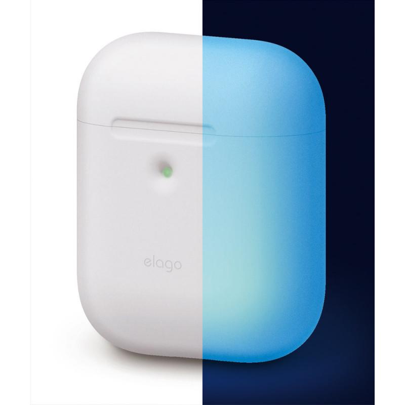Elago AirPods無線充電盒專用LED視窗矽膠保護套(7色)