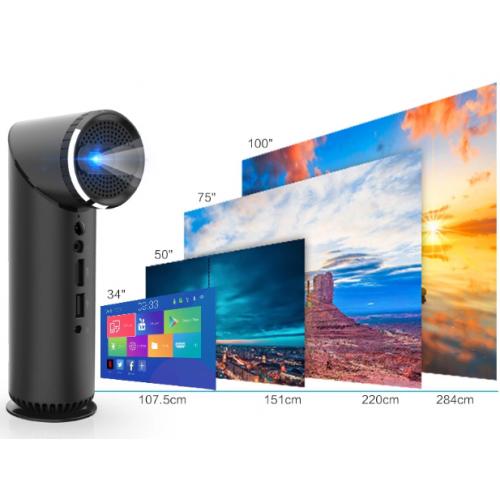 Kixin K5H 可攜帶投影機連立體聲喇叭 (Android 6.0)[黑色]
