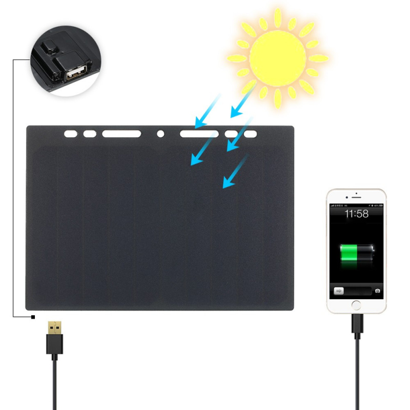 太陽能充電板 10W 移動充電器5V USB