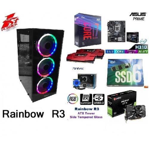 👉AccessPoint{終極一劈,全面升級!!強勁最新I7 9700KF x 水冷電競組合+GEFORCE GTX 1660TI 6G !!}(連正版WIN10!)x I7 9700KF x INTEL 600P 512G M.2 SSD+(讀取速1800MB/s,速度超乎想像!!)+極速DDR4 3000 16G RAM x 強化玻璃透側+3風扇彩燈電競機箱!🔥🔥