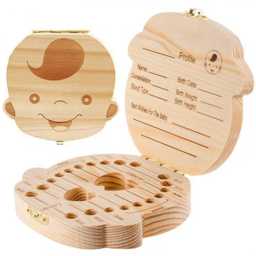 木製嬰兒牙齒收藏盒 [2款]