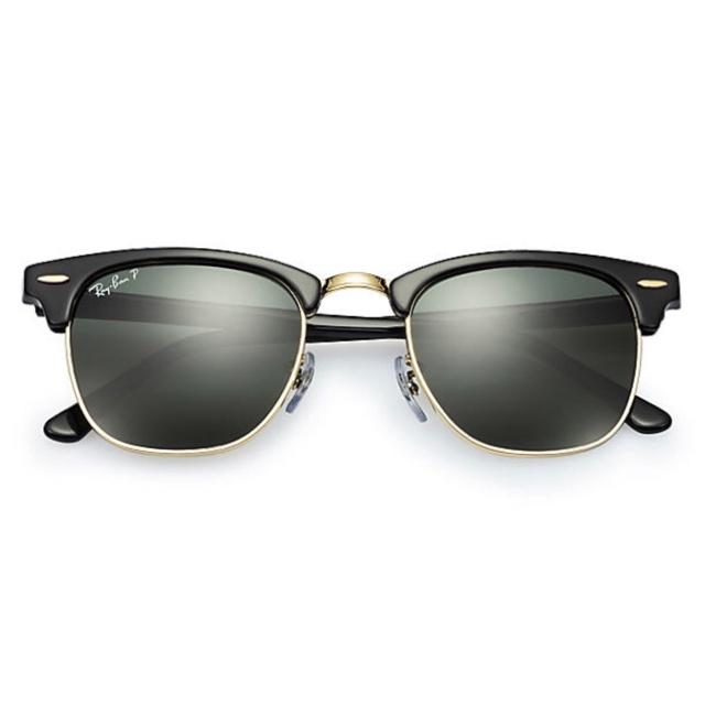 Ray-Ban RB3016 Clubmaster Polarized Green Classic G-15 經典墨綠色偏光鏡片太陽眼鏡   901/58 黑色鏡框