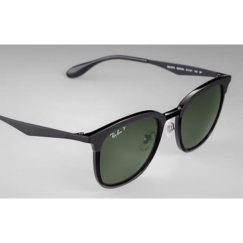Ray-Ban RB4278 High Street 經典墨綠色偏光鏡片太陽眼鏡 | 62829A 黑色鏡框