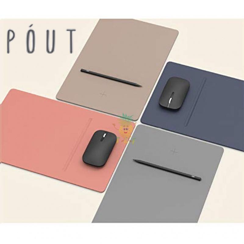 POUT - Hands 3 Pro Combo QI 10W 無線快速充電器滑鼠墊 + 滑鼠