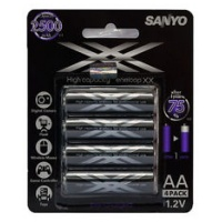 Sanyo eneloop Double XXX AAAx4 Battery HR-4UWXB-4H
