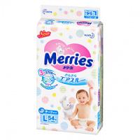 Kao 花王 Merries嬰兒紙尿片 大碼 L 54片
