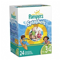 Pampers Splashers Disposable Swim Pants Size 3-4, 24 Count 3-4號游水尿片