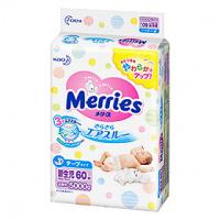 Kao 花王 Merries 嬰兒紙尿片 初生 NB 60片