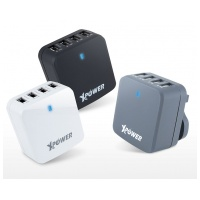 Xpower X4WT 34W 6.8A 4 Port Travel Charger