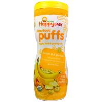 Happybaby 有機嬰兒食品,有機泡芙,香蕉,2.1 盎司(60 克)