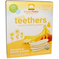 Happybaby 有機咀嚼餅,香蕉和甜薯,12-(2包),0.14 盎司 (4 克) 每包