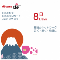 Docomo 日本 8天 4G無限上網 數據卡