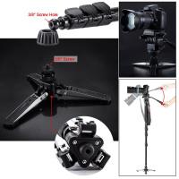 YUNTENG VCT-588 Extendable Monopod w/ Detachable Tripod Stand Base + RS-60E3(For Canon)