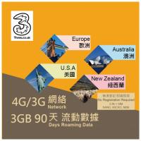 3UK 3GB 歐洲上網卡