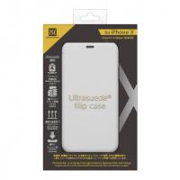 Power Support Ultrasuede Flip Case for iPhone X (Asphalt)